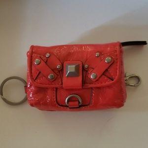 Fab Red mini wallet/keychain